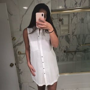 Abercrombie and Fitch White Button Up Dress